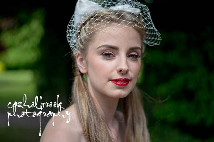 Birdcage veil - Bow detail by LillyDillys on Etsy