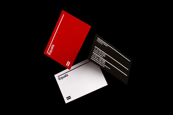 Equals Consulting by Spin, United Kingdom. #branding #businesscards