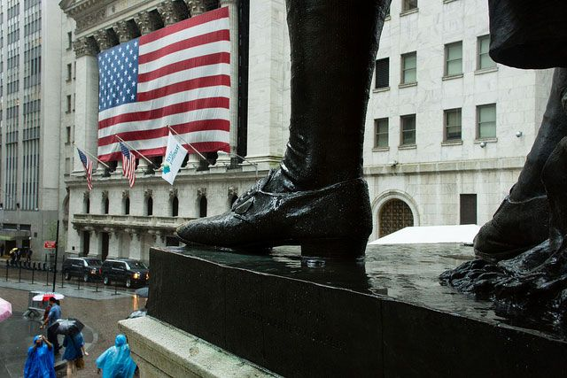 The New York Stock Exchange, pictured June 12, 2012. The free market is a myth. There is only a rigged market.