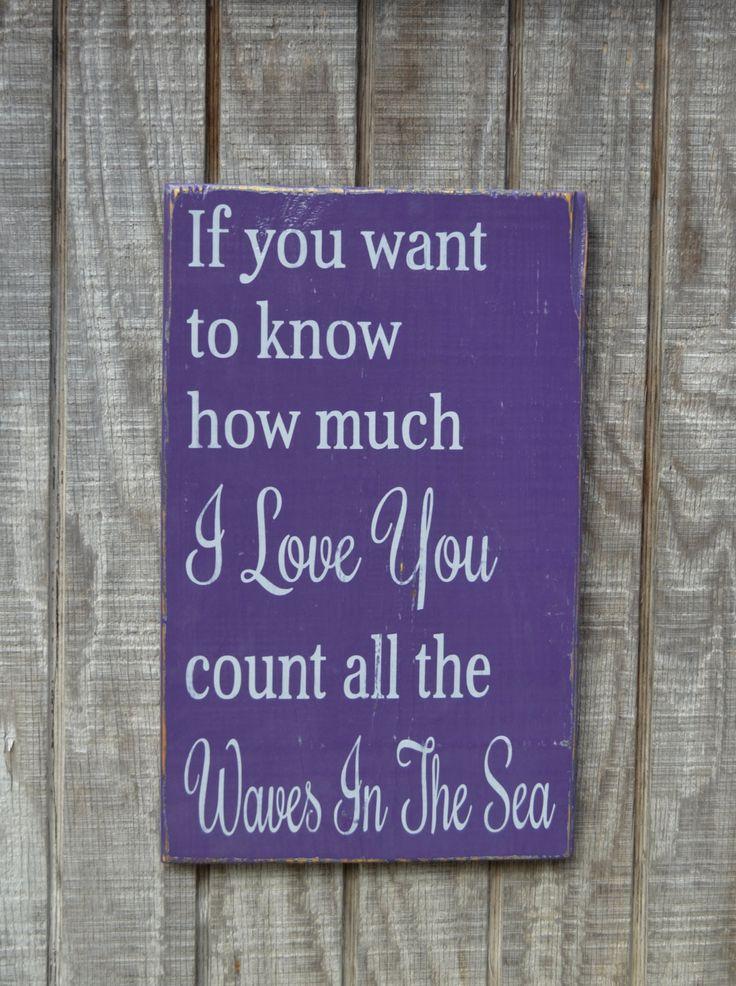 A Beach Wedding Sign Nautical Nursery Purple by ...