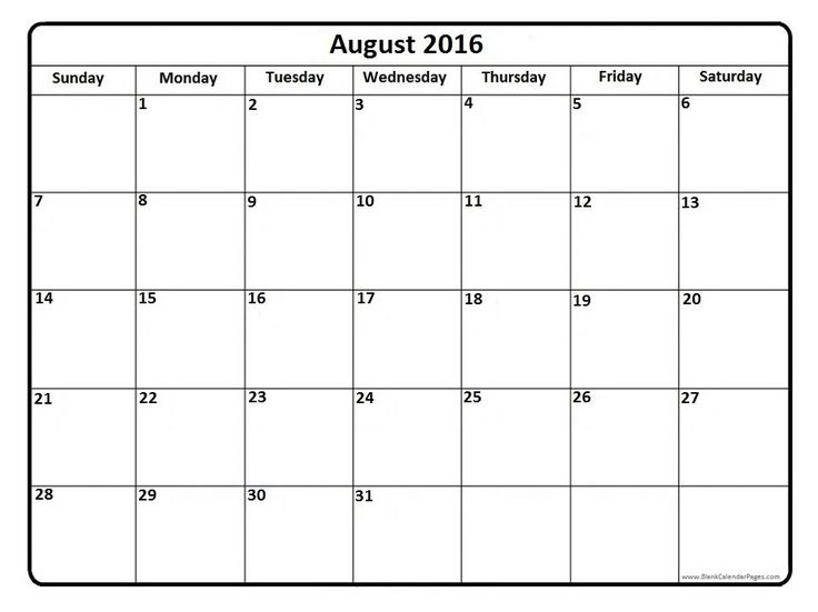 Best 25+ August 2016 printable calendar ideas on Pinterest - assessment calendar templates
