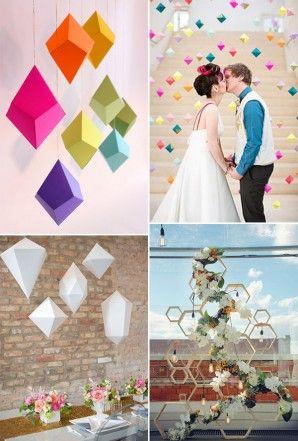decorazioni matrimonio geometrico