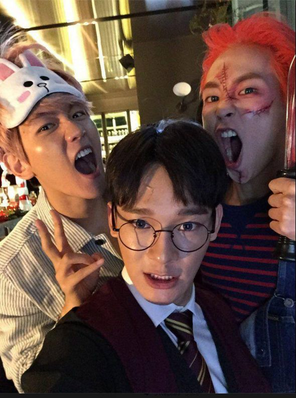 Baekhyun, Chen, Xiumin at SM's 2015 Halloween Party!!  #SMTOWN_WONDERLAND