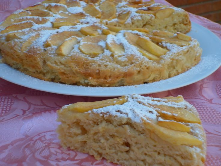 Torta di mele e yogurt - senza burro e uova