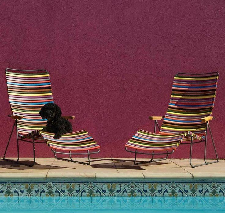 Le click sunlounger Houe est idéal pour se prélasser durant l'été 🌞  📷@danishfurniturenz