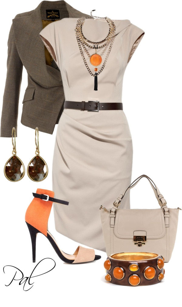 """Belted Dress"" by pamlcs ❤ liked on Polyvore"