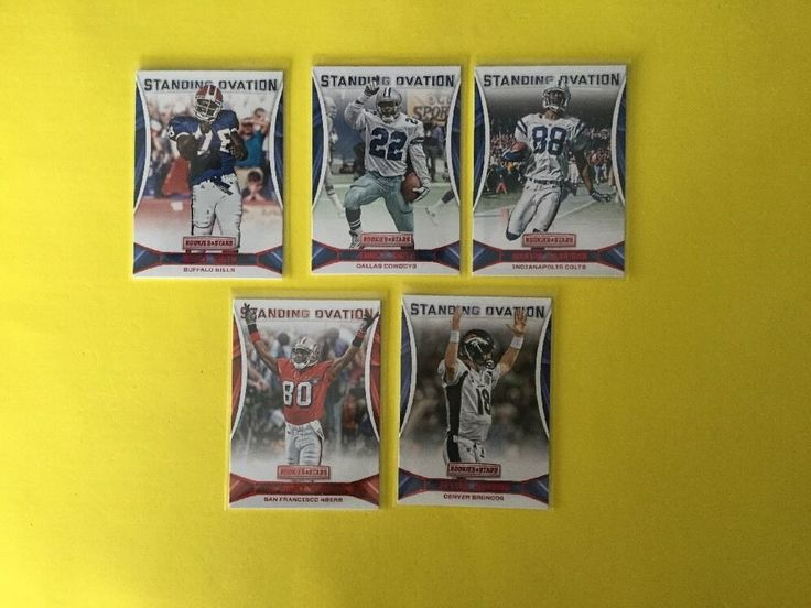 2016 Rookie And Stars STANDING OVATION LOT OF 5 Inc PEYTON MANNING #DenverBroncos