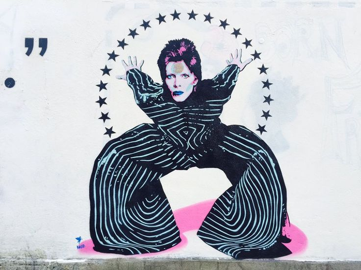 London street artist creates beautiful homage to David Bowie