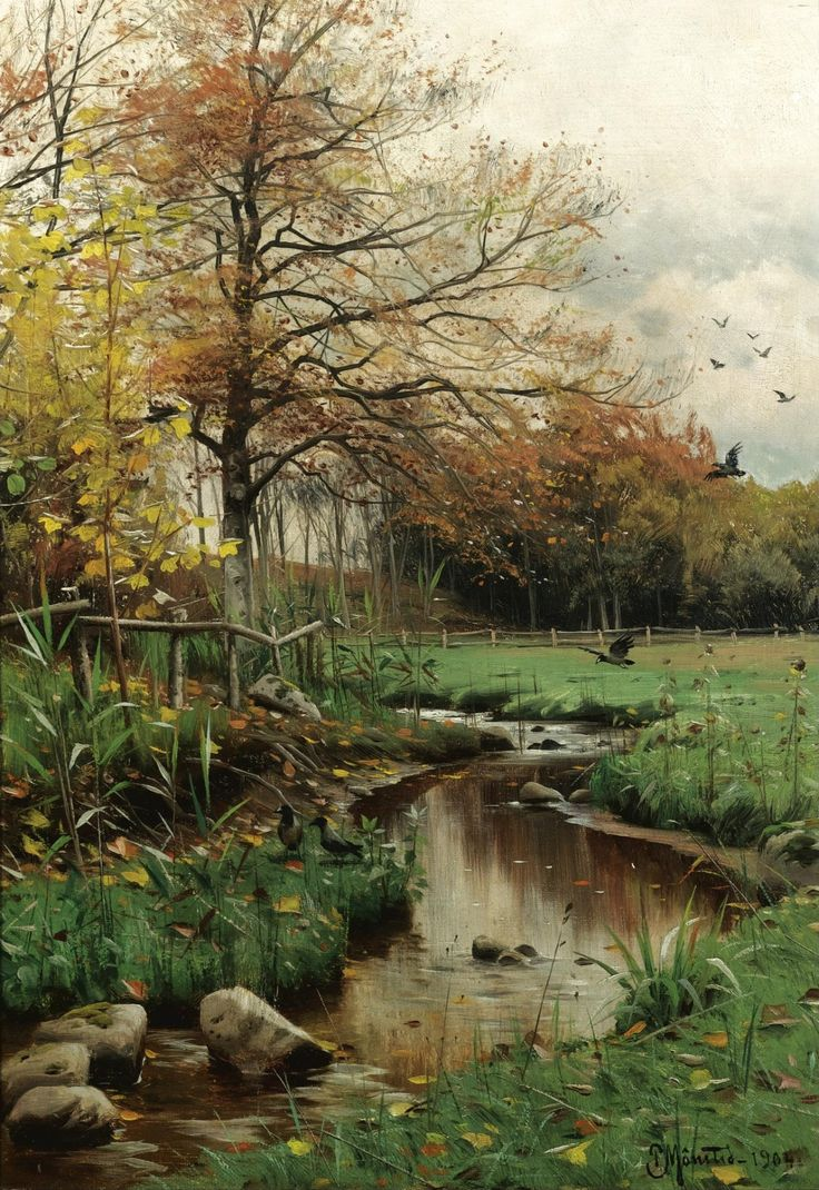 Autumn Leaves, 1904, Peder Mørk Mønsted