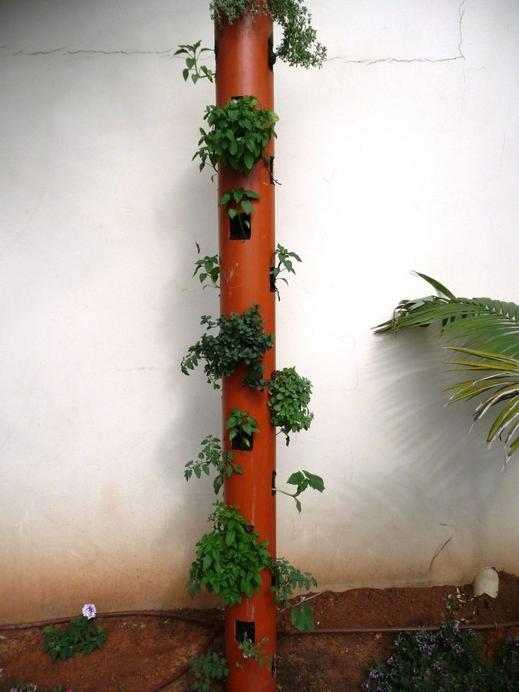 Diy Vertical Planter Gardening Pinterest
