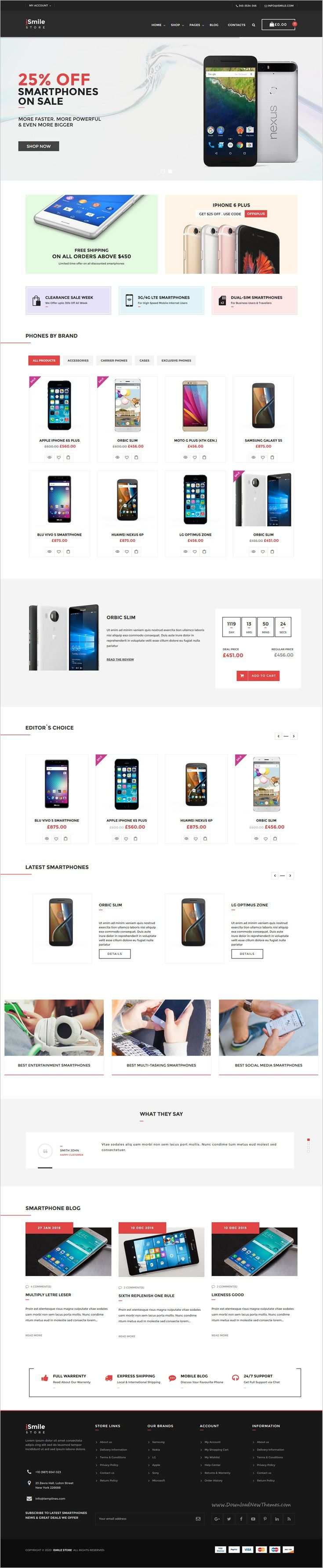 iSmiler Store is a responsive 3in1 #WooCommerce #WordPress Theme for multiconcept #eCommerce website with clean and modern design download now➩ https://themeforest.net/item/ismile-phones-market-wordpress-theme/17959917?ref=Datasata