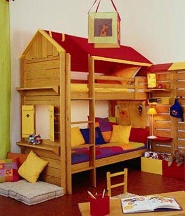 Cabane chambre enfant chambre cabane pour jeune garon - Curieux comme un pot de chambre ...