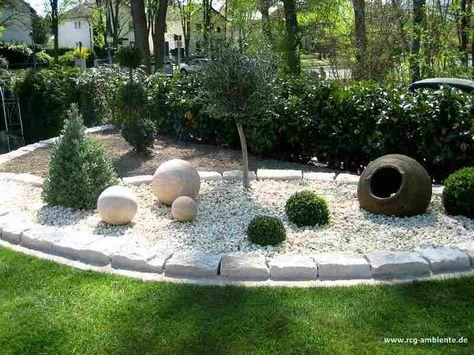schner garten garten deko steingarten vorgarten mediterraner garten gartenanlage einfahrt landschaftsbau kiesbeet pflanzen lavendel pflanzen