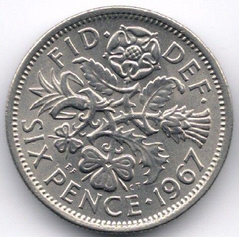 United Kingdom 6 Pence 1967