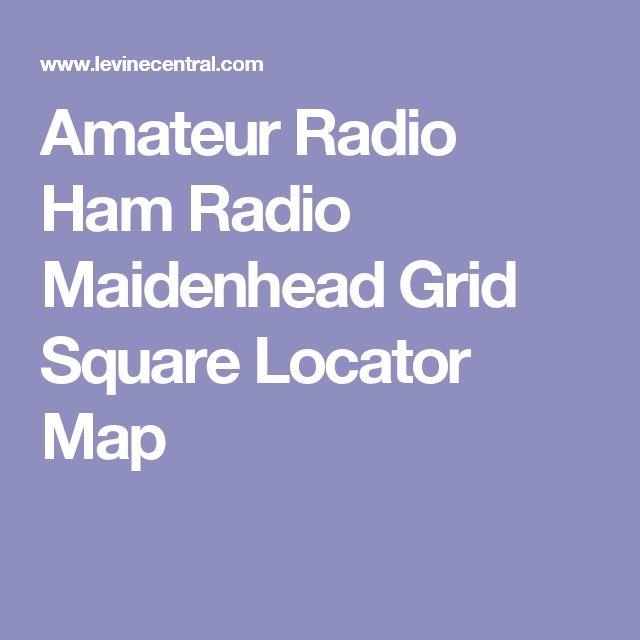 Die Besten Ham Radio Repeaters Ideen Auf Pinterest - Us maidenhead grid square map