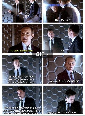 My favorite moment from Marvel's Agents of            S.H.I.E.L.D :)