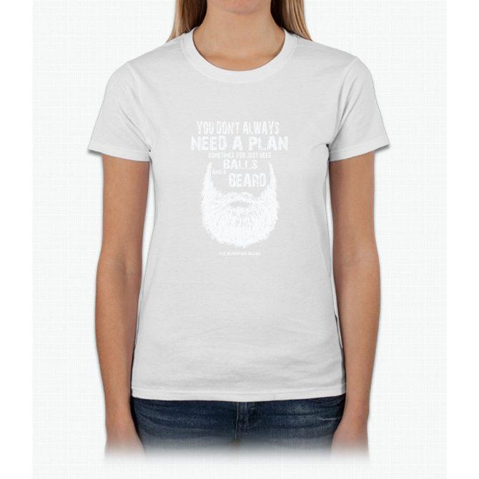 Men's Just Need Balls And A Beard T-shirt Large Brown Womens T-Shirt
