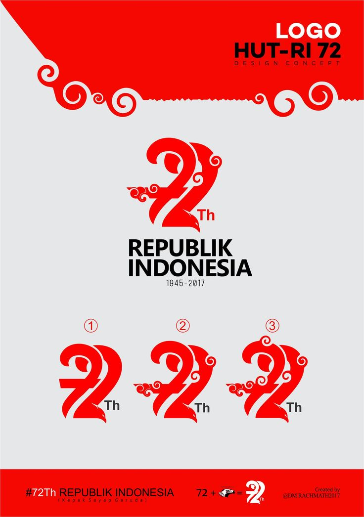 "HUT RI 72 LOGO ""aniversary Indonesian independence Day"""
