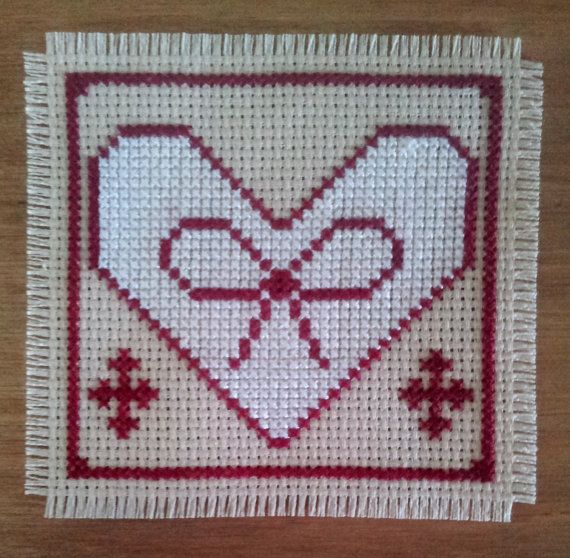 Cross stitch Christmas Folk Heart digital by CraftwithCartwright www.etsy.com/shop/craftwithcartwright Use code PIN10 to get 10% off in my Etsy shop