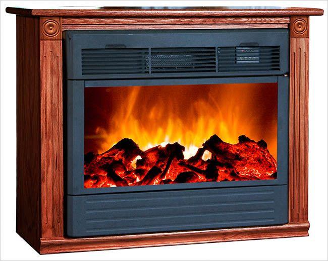 Modern Amish Fireplace