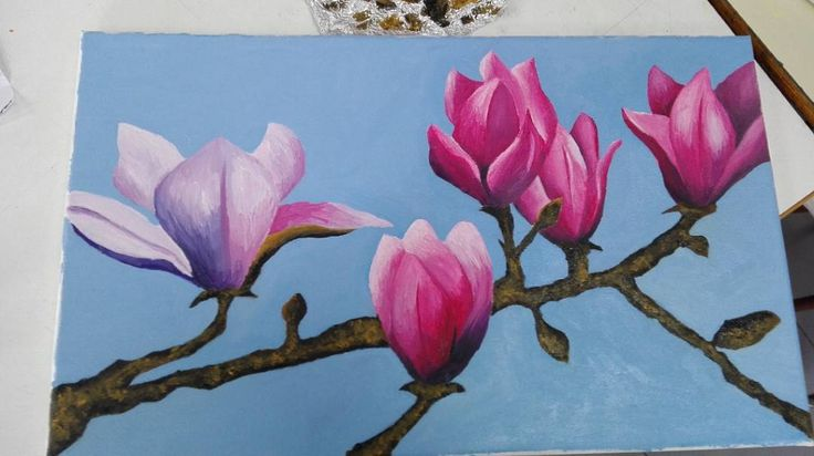 #oilpainting #drawing #amateurartist #colorfull #pink #blue #purple #flowers #picture #artwork #photo #pinkflowers #art #nature