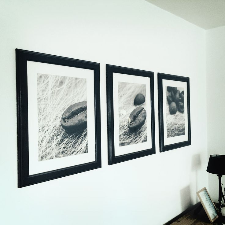 """Painted frames from Ikea. Base white changed to """"old and used"""" wood look and feel."""