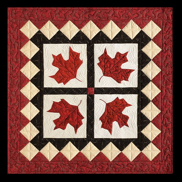 Canadian Maple Leaf (Red Leaves) Quilt from Picture Piecing Traditional Quilts by Cynthia England