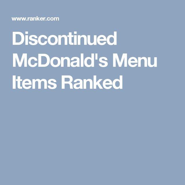 Discontinued McDonald's Menu Items Ranked