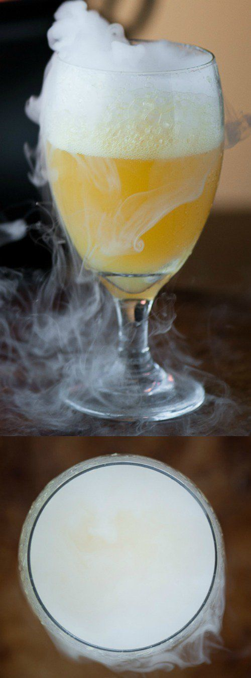 This sweet and sparkling Halloween Witches' Brew from Self Proclaimed Foodie is a fun party drink for all ages. It's made with fresh fruit juice and is packed full of flavor!