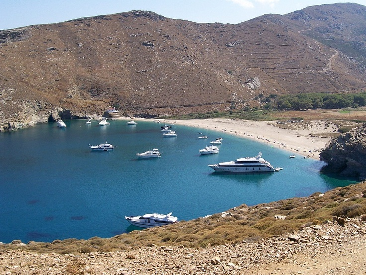 A beautiful beach in Andros.