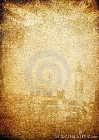 Grunge vintage background. London theme.