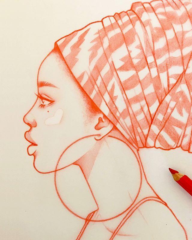 Ich fühle, wie eine weitere Serie von Zeichnungen auftaucht … (nach links streichen) #riklee #illustration #sketch #woman #beauty