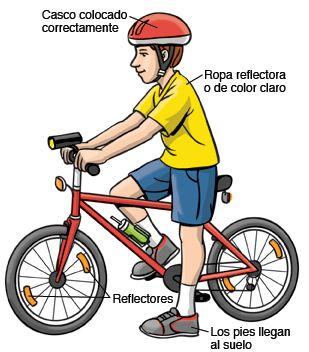 ¡A la escuela en bicicleta!  Tener acceso al aire libre y ejercitarse son dos cosas que benefician mucho la salud de los peques. Hay una forma muy divertida y económica de hacerlo: transportarse en bicicleta. Claro que siempre hay que pensar en la seguridad y aquí te compartimos algunos consejos:  1. Casco 2. Bicicleta 3. Ropa apropiada 4. El camino 5. Señalamientos de tránsito 6. Diviértanse, disfruten y manténganse seguros
