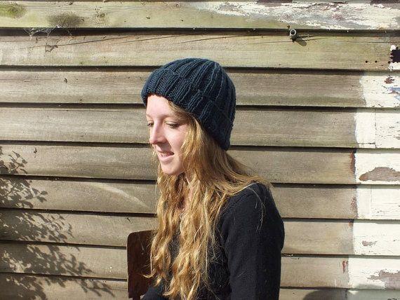 Rib knit beanie by RusticValley on Etsy