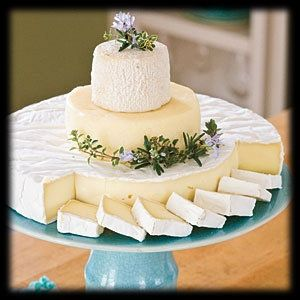 such a cleaver idea for the wedding cake = easy to cut up and serve with dessert