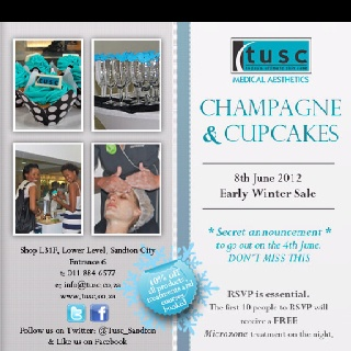 Champagne and cupcake event
