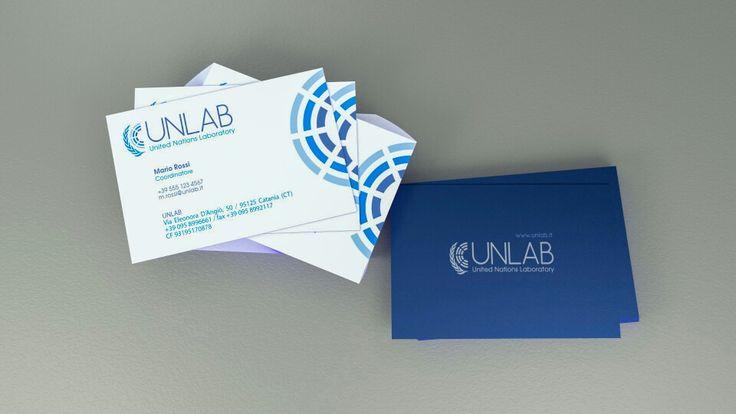 Unlab . brand image . business card . bigliettini da visita . Simulazione realizzata in Blender - Rendered with cycles and Blender 2.72