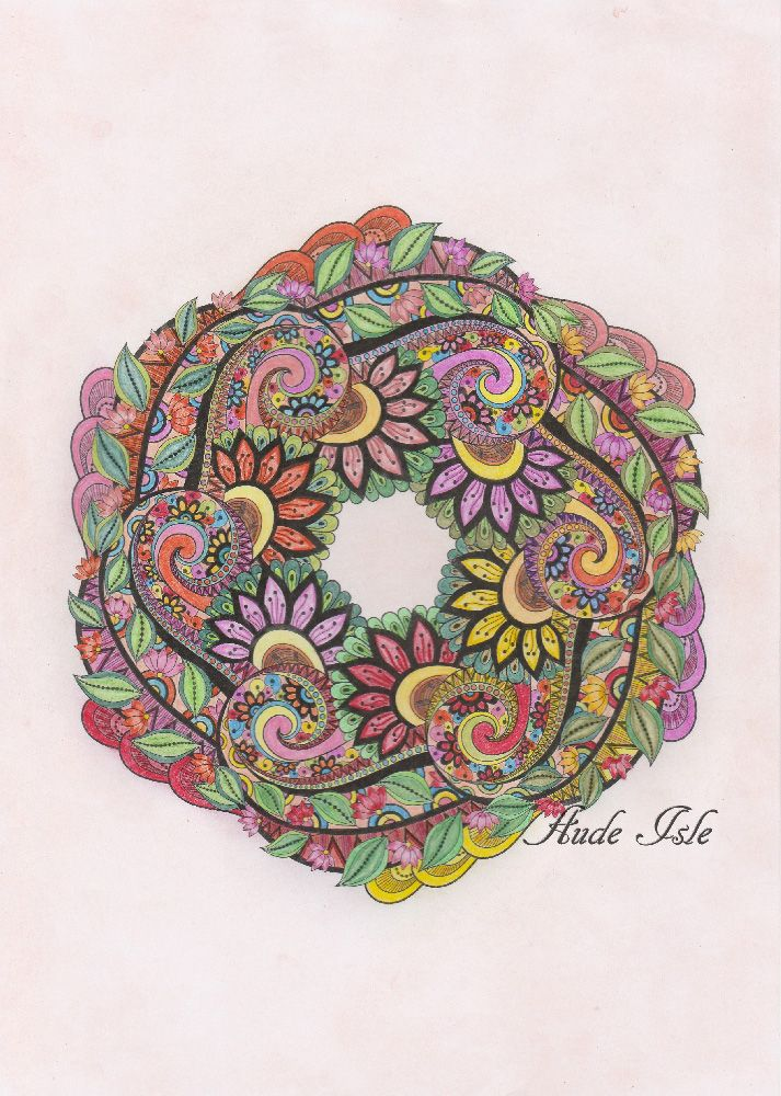 Creation by aude isle, coloring page from the gallery Mandalas #mandalas