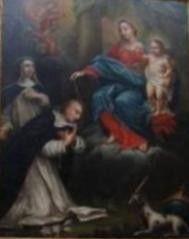 Eglise de La Madeleine à Martigues : La Vierge Marie remet le rosaire à Saint Dominique et à Sainte Catherine de Sienne  Un livre sur Sainte Catherine de Sienne (7/11/2013)