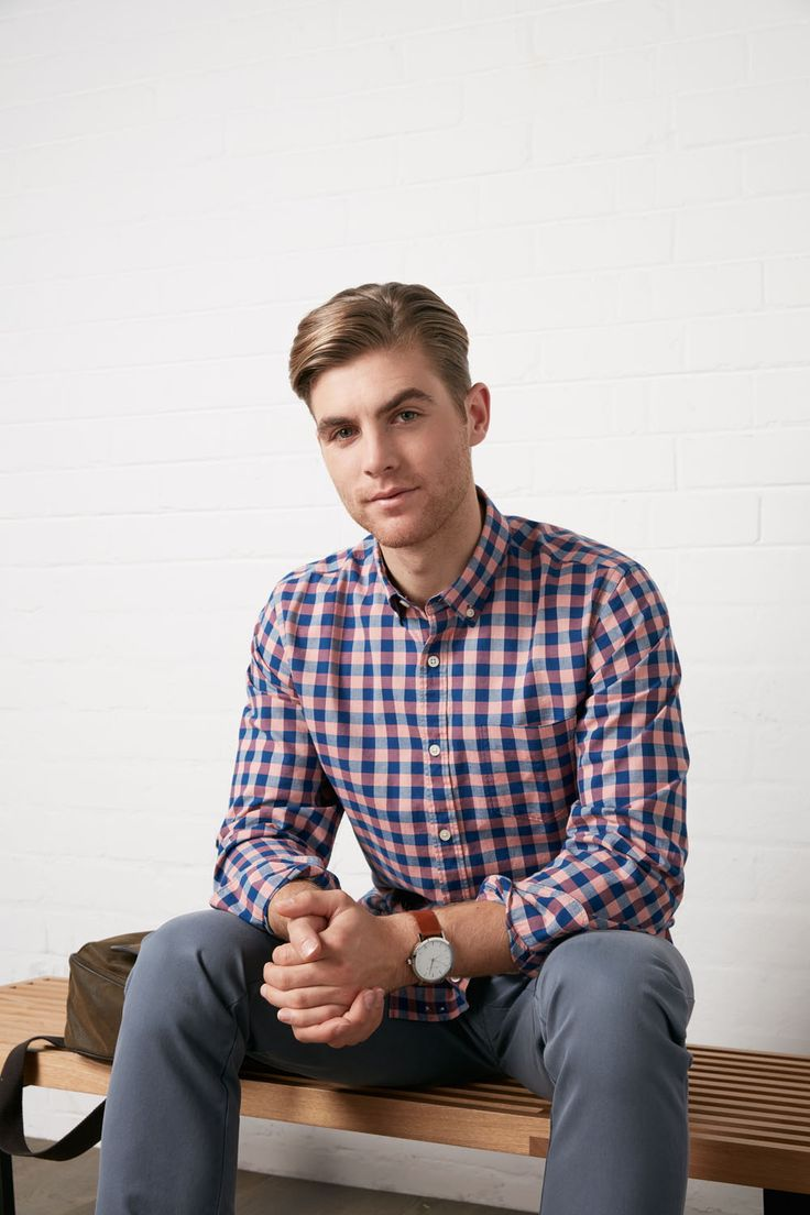 One of our favourites this season. In a bold gingham design and made from soft cotton that has been specially washed to create a soft feeling garment and a great casual looking shirt. With added details across the shirt, this is a winner.