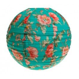 Floral Fabric Light Shade in Turquoise £15