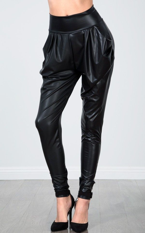 Awesome Emilio Pucci Leather Harem Pants In Black  Lyst