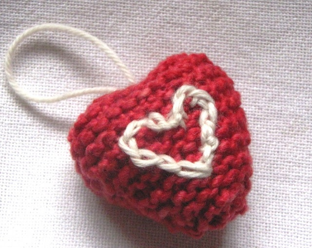 Valentine Heart Knitting Pattern, Tutorial