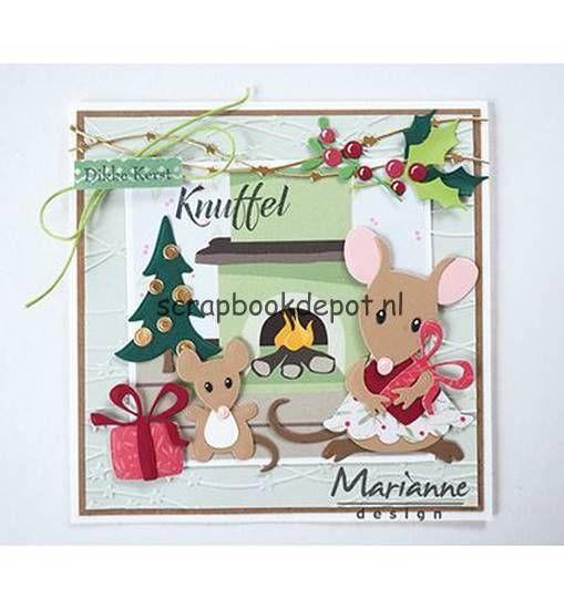 Scrapbookdepot - Marianne Design Collectable Eline's mice family - COL1437 - Marianne Design - Marianne Design