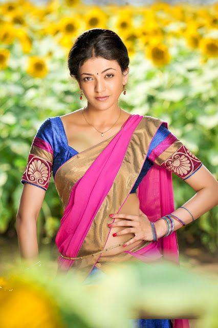 Kajal Agarwal Hot Saree Photos Collection