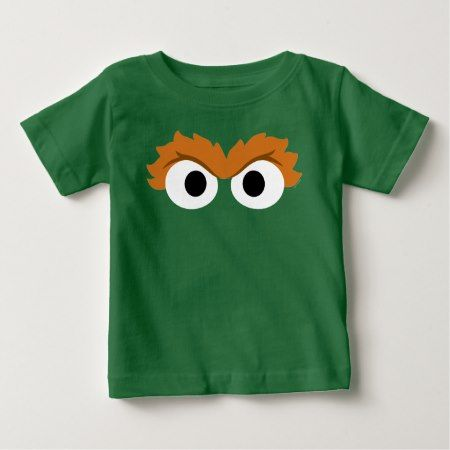 Oscar the Grouch Big Face Baby T-Shirt - tap, personalize, buy right now!
