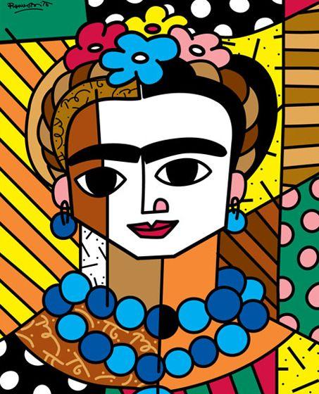 Romero Britto(Brazilian: 1963) - Frida