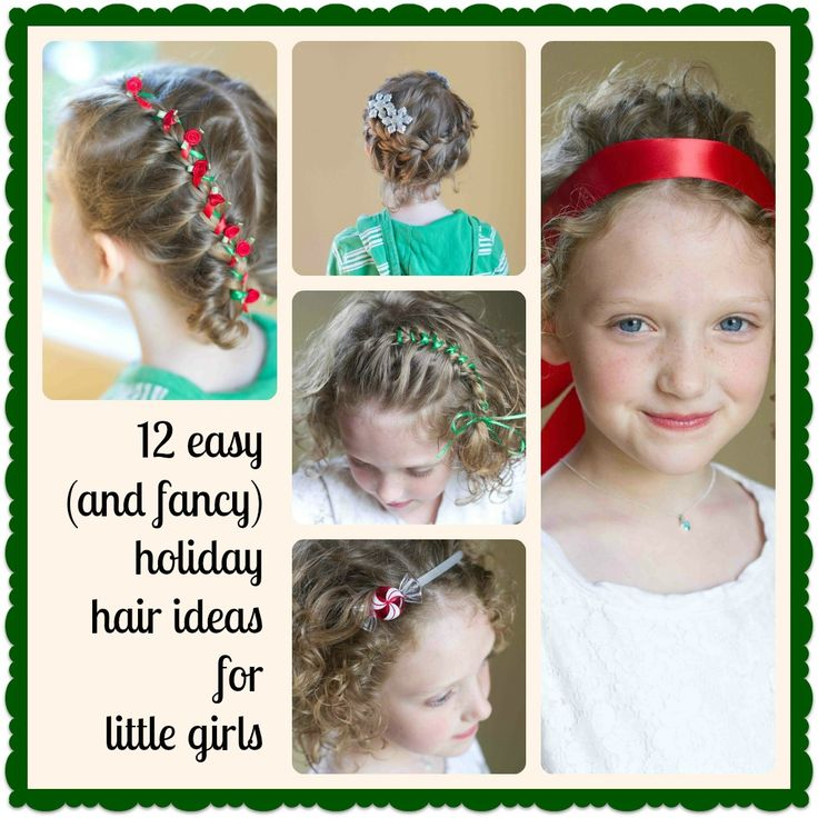 12 Easy (and Fancy) Holiday Hair Ideas for Little Girls