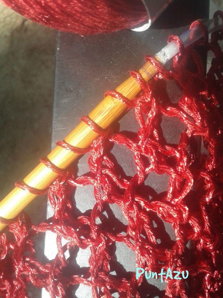 PuntAzu: Punto Malla a dos agujas