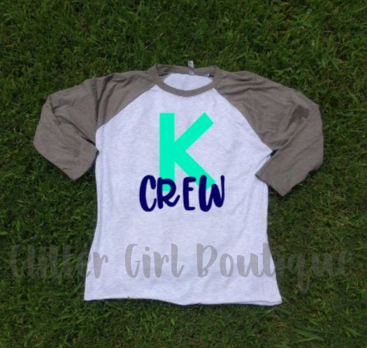 Kindergarten Team Shirts | Teacher Shirts | Teacher Raglan | Grade Level Shirts | Team Teacher Shirts | K Crew Team Shirts | Elementary Team